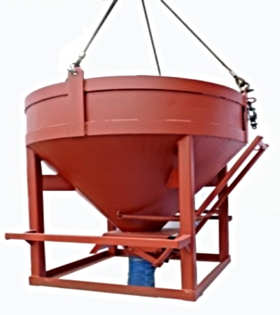 Concrete Bucket Round Type Bottom Discharge V Lift