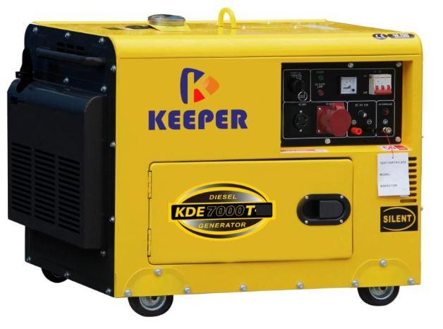 Keeper Diesel Generator Silenced Type 1Phase